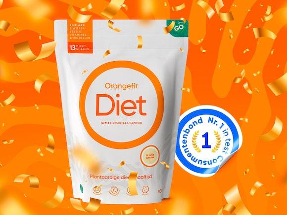 Orangefit Diet als Nr.1  getest door de Consumentenbond