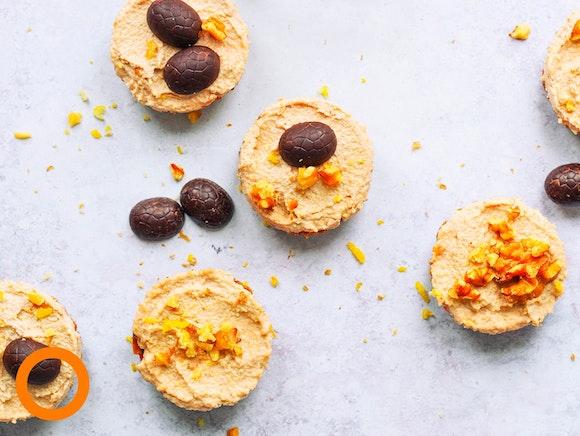 Carrot cake cupcakes voor Pasen
