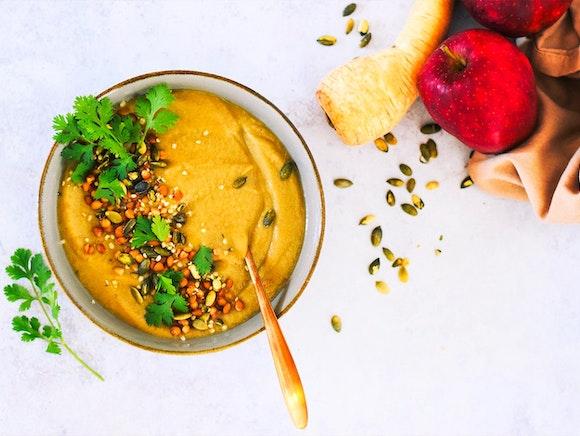 Pastinaak en appel soep